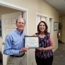 Workforce staffer receiving recognition