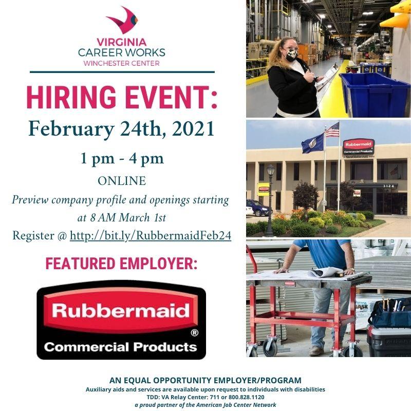 virtual hiring event flyer