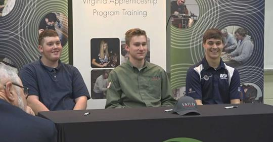 Apprentices at Signing Event
